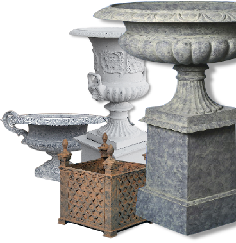 LODGE & GARLAND URNS